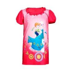 Disney Frozen Princess Elsa T-shirt Shortsleeve Biru