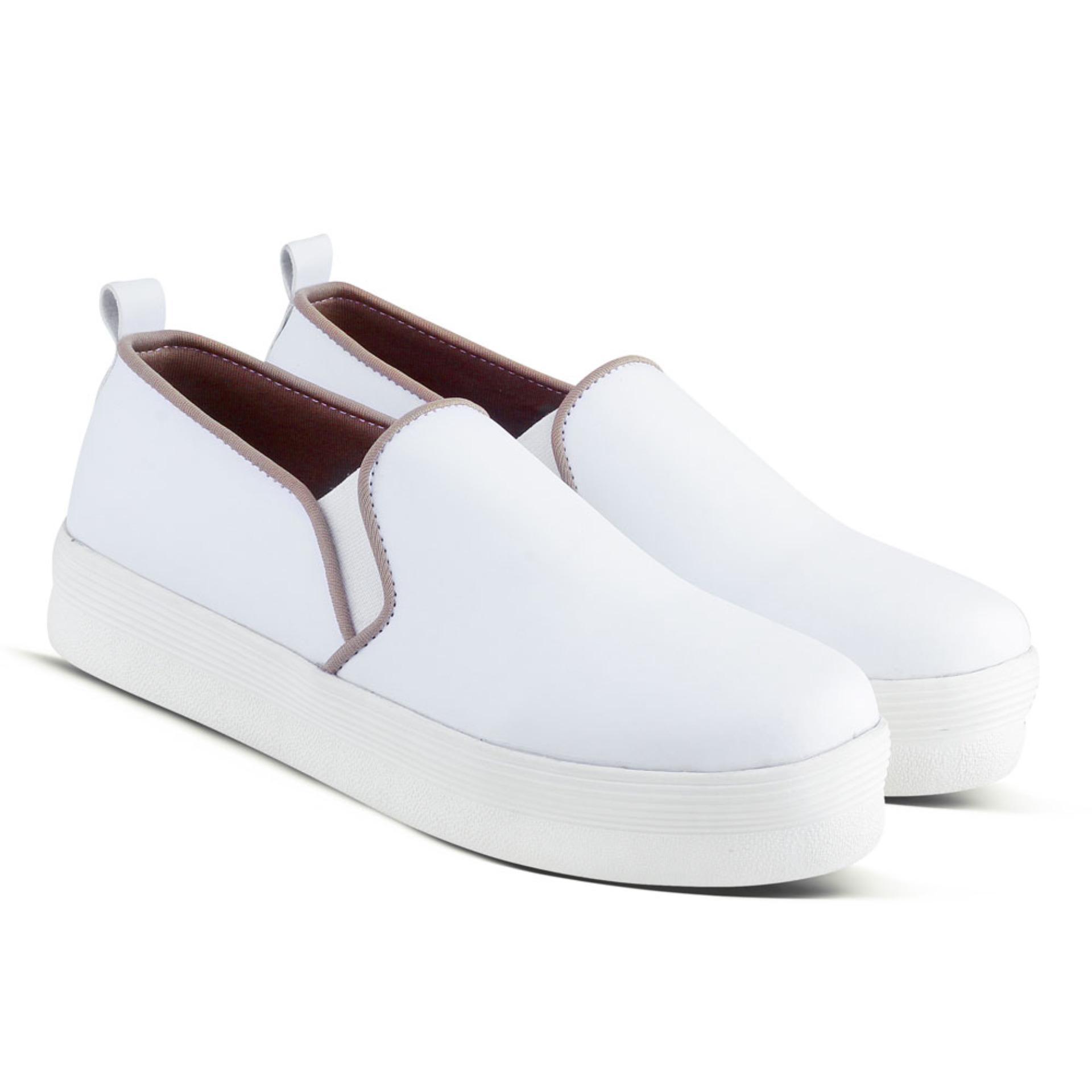 Distro Bandung Vr 342 Sepatu Kets Sneakers Dan Kasual Wanita Navy 276 Casual 254 Sneaker Slip On Putih