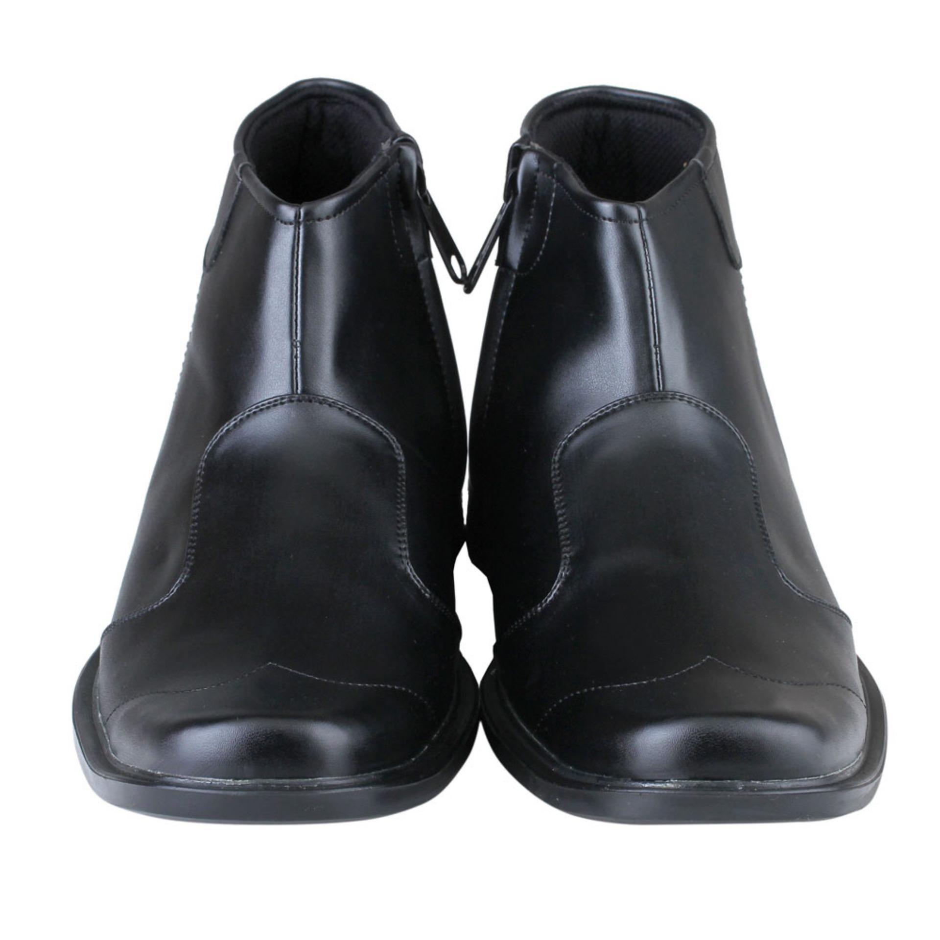 Distro Vd 488 Sepatu Boots Formal Pantofel Pria Untuk Kerja Dan Bsm Soga 275 Kulit Asli Elegan Hitam Ds 464 Boot Kantor