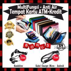 Dompet Kartu Nama /Tempat Kartu Nama/ Card Holder Atm Credit Card - GRATIS Handsfree & Kabel Charger Micro Android