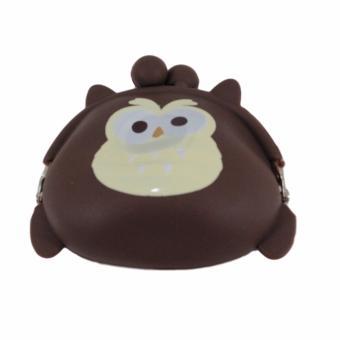 Dompet Koin Motif Burung Hantu - Coklat