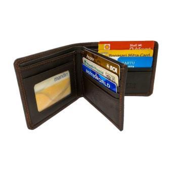 Dompet Kulit Asli Pria Original 3D Coklat-Mens wallet handmade Leather Gio  DDM-002 6feed843e3