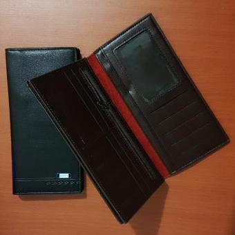 Detail Gambar Dompet Pria Bovis Long Fashion Wallet 8 Inchi DF-95 PU Leather -Black dan Variasi Modelnya
