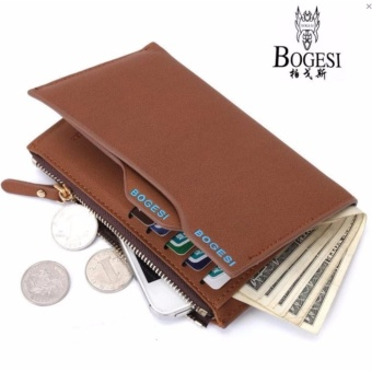 Dompet Pria Kulit Bogesi 836 Multifungsi Casual Purse Clutch Bag Leather  Wallet Short Business Fashion Import bcae14f8fd