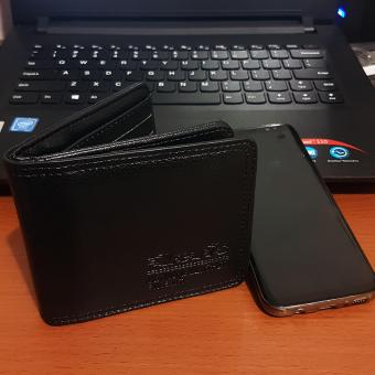 Dompet Pria PU Leather Fashion Wallet 5 Inchi 630-10 Bifold Import- Black
