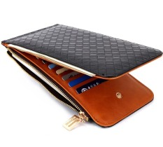 Dompet Wanita Bogesi Fashion Import Purse Bag Import  Leather Wallet Purse Slot Kartu dan Kantong Koin - Black