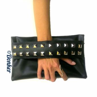 Donker Studed Clutch - Black
