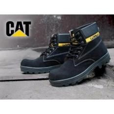 DOZN Sepatu boots caterpillar - caterpilar safety boots Hitam