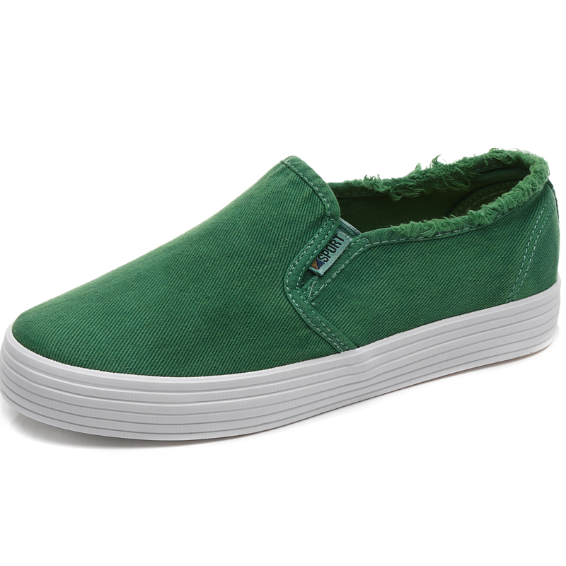 Dream race wild denim cloth female heavy-bottomed a pedal New style canvas shoes (