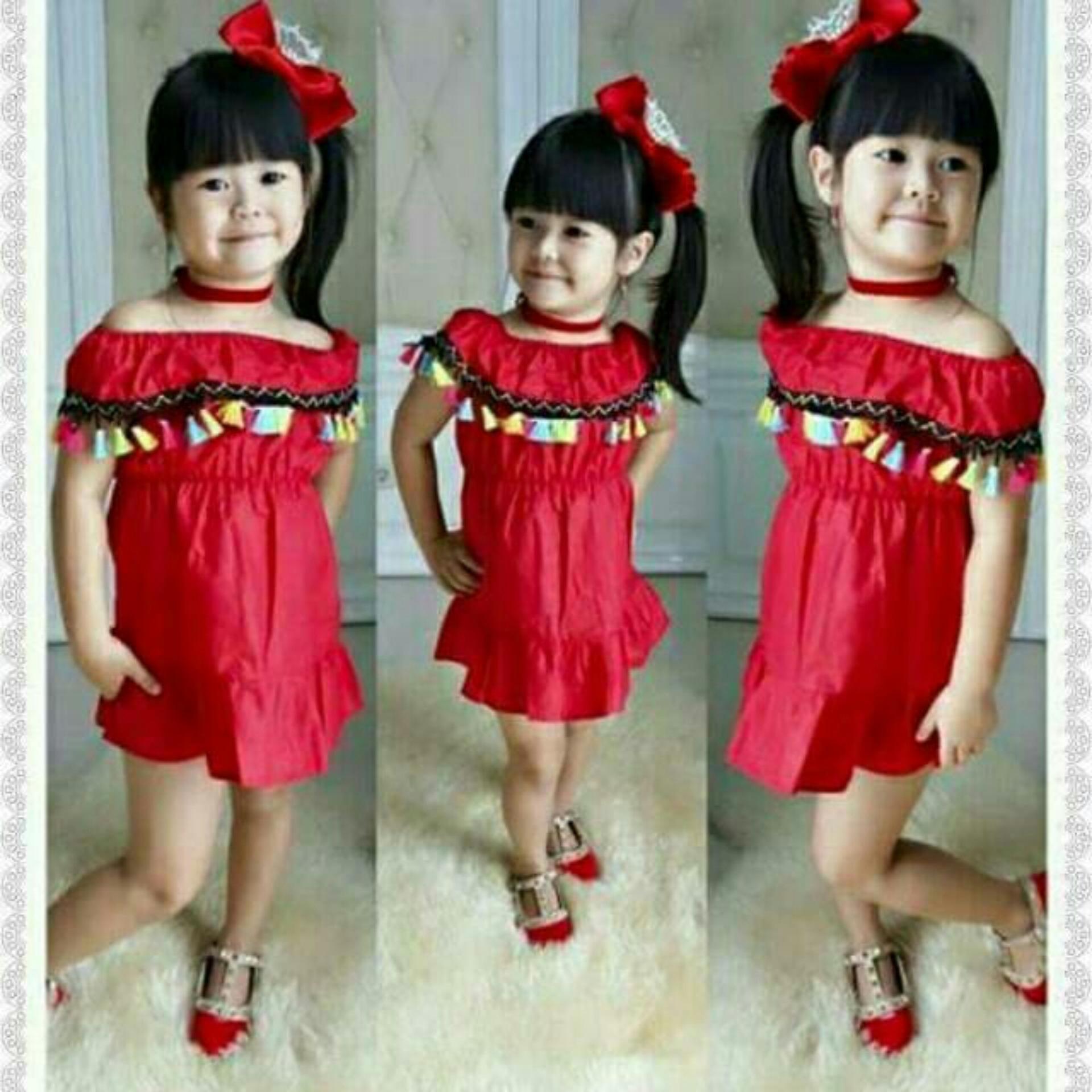 Dress Anak Sabrina Tassel Etnik