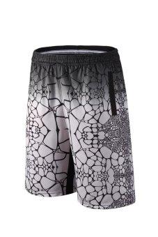 Harga Durant pria dan wanita bernapas berjalan ukuran besar lima celana celana basket kebugaran celana pendek (Perak) (Perak)