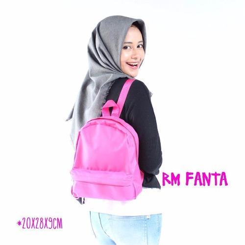 EL Piaza Mini Ransel Backpacks Kanvas / Sling Bag / Tas Slempang - Hot Pink |