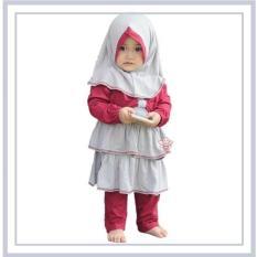 eLBi - Baju Muslim Anak Balita Winnie Legging Set Abu Abu