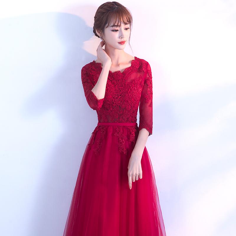 Elegan Korea Fashion Style Merah Mempelai Wanita Baru Putri Gaun Malam Baju  Pelayanan (7132 Arak 94baa1c970