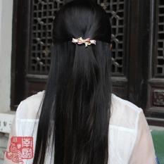 Elegan Manis Batu Kristal Air Model Klasik Elegan Jepit Rambut Busur Jepitan Rambut