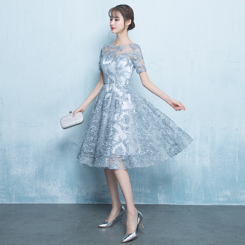 Daftar Harga Elegan Perempuan Pesta Setengah Panjang Model Gaun