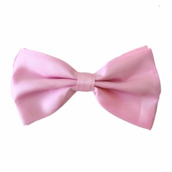 Elfs Shop Bow Tie Satin - Pink Muda