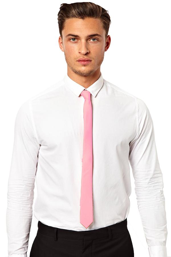 Elfs Shop - Dasi Kantor Polos Slim-Pink Muda ...