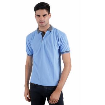 Elfs Shop - Poloshirt Lacost Pocket - Biru Muda