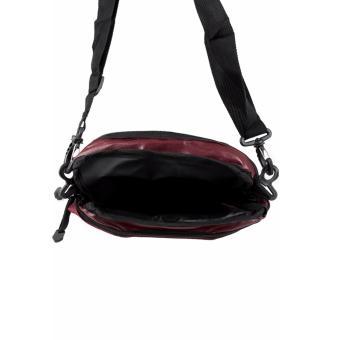 Elfs Shop - Tas Selempang Pria Men's Sling Crossbody Shoulder Bag Canvas Simple-Maroon - 4