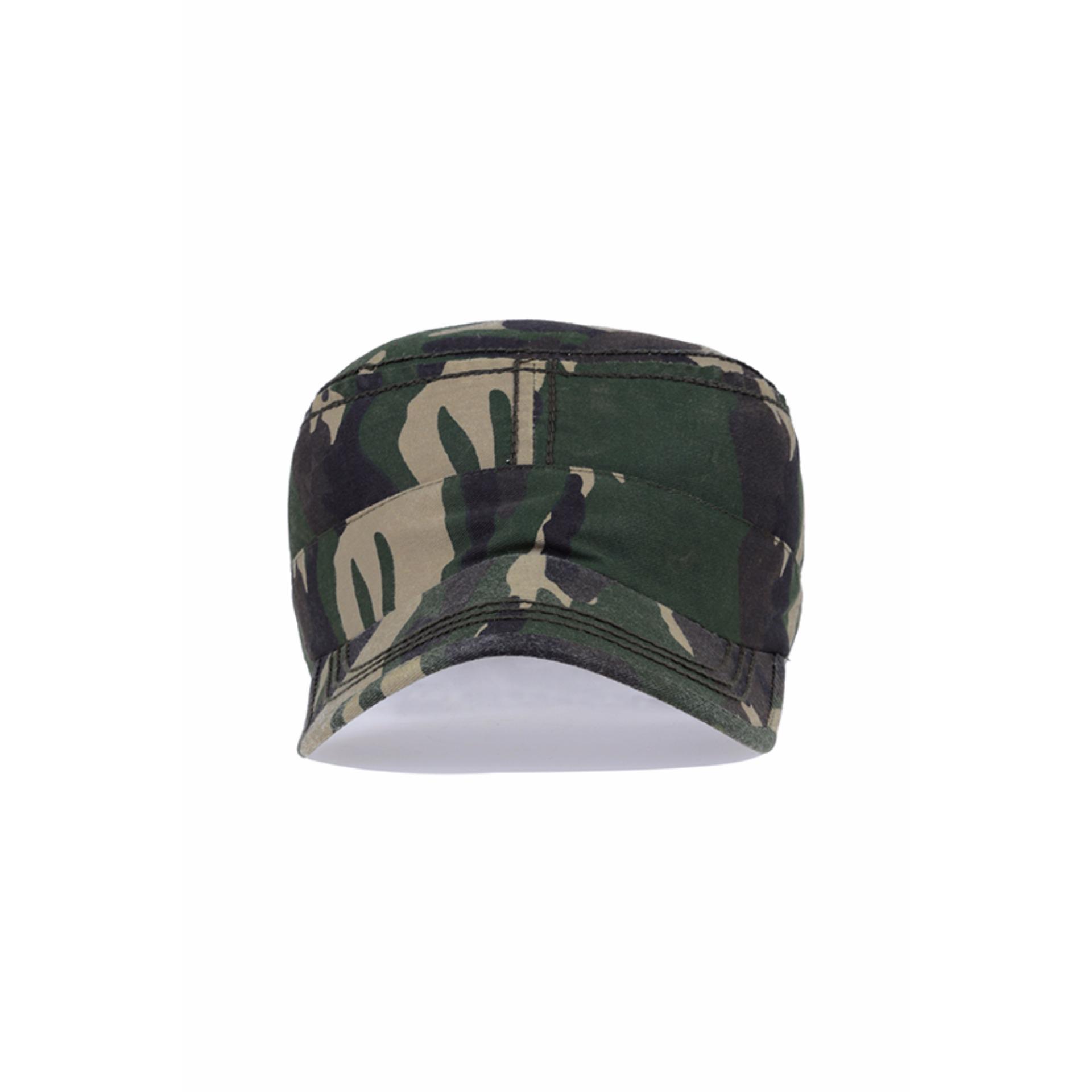 Elfs Shop - Topi Pria Polos Komando Motif Army / Military Canvas Cap .