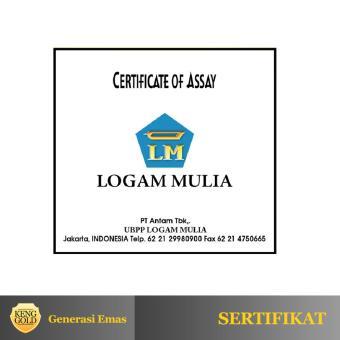 Jual Emas 1 Gram Logam Mulia 999 9 Sertifikat Antam Authorized
