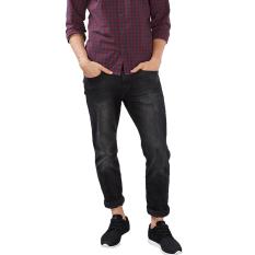 Esprit Pants Denim Length Service - Black Dark Wash