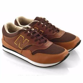 Everflow Sepatu Lari Sporty Pria Synthetic Mesh - Running Shoes - Brown