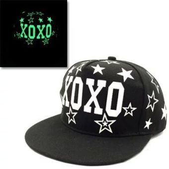 Belanja Terbaik EXO Korea Fashion Style musim panas pria dan wanita topi baseball visor topi (