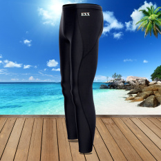 EXX Celana Renang Pria Sepersembilan Pelindung Terik Matahari Ukuran Besar (Hitam F0106-1) (Hitam F0106-1)