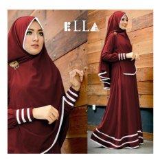 F Fashion Baju Muslim Gamis Syari Najwa - Maroon / Dress Muslimah / Hijab Muslim / Gamis Syari / Baju Muslim / Fashion Muslim / Dress Muslim / Fashion Maxi / Setelan Muslim / Atasan Muslimah