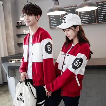 F Fashion Jaket Couple Winter - Merah