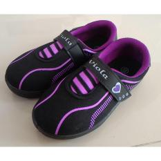Fanie Shoes - Viola Darlene  Sepatu Sekolah Hitam Anak Perempuan Cantik Murah