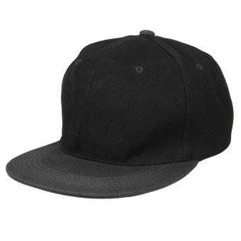 Fashion Pria Wanita Topi Snapback Baseball Hip Hop Topi Berburu Topi untuk  Olahraga Dapat Disesuaikan Hitam bdb86458d3