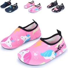 Fashion Outdoor Olahraga Air Aqua Kulit Air Sepatu Casual Pantai Sandal, Pink/Unicorn US 11-Anak Kecil-Intl