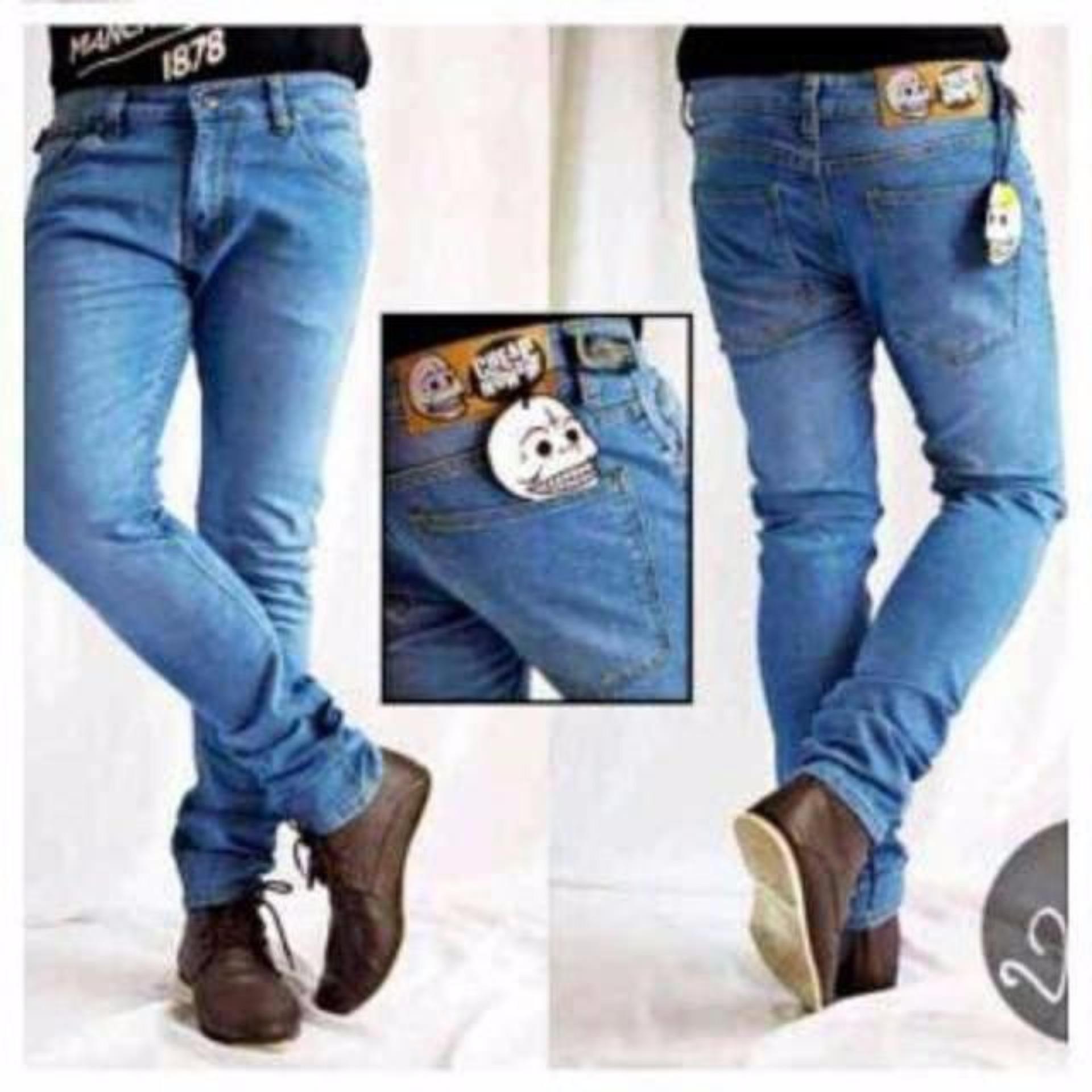 Fashion Pria Celana Lois Fit Skinny Warna Hitam Daftar Harga Jeans Original Panjang Sskt081 Navy 33 Cheap Monday Biru