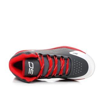 Fashion Sneakers Stephen Curry Shoe Pelatihan Olahraga Pria Sepatu Basket Casual Top Top (Abu-abu) - 5