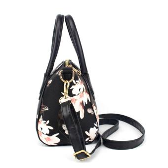 Fashion Wanita Tas Tangan Kulit Bahu Bag (Hitam) - 5 .