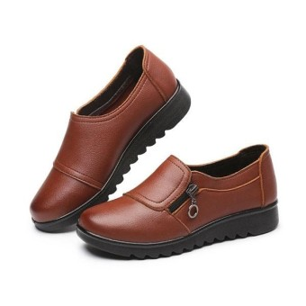 60eac512bb8 Fashion Women New Casual Leather Slip On Outdoor Flat Loafers Boat Shoes -  intl