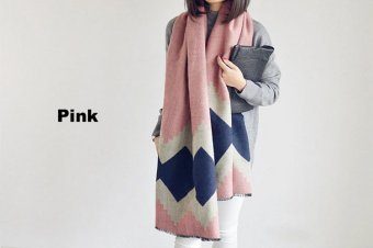 Fashion Women's Autumn Winter Soft Warm Thermal Wool Casual StyleScarf Scarves Shawl Wraps - intl