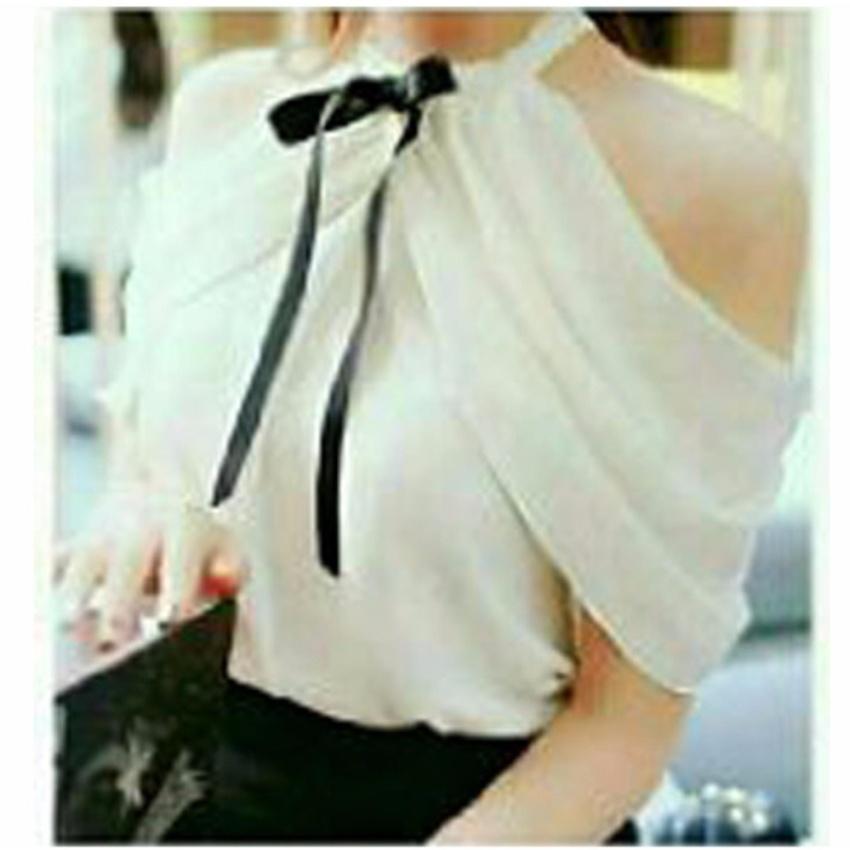 Fashionshop Blouse Hanara Putih   Baju Wanita   Blouse Korea   Atasan Wanita    Baju Formal e981b89b5c