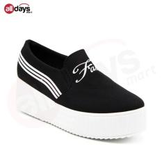 Faster Sepatu Kanvas Slip On Wanita 1608-075 - Black