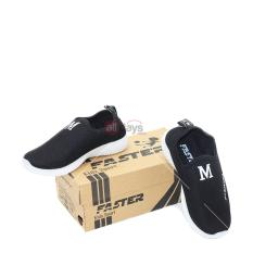 Faster Sepatu Sneakers Anak Slip On 1706-1768 - Black Size 32-37