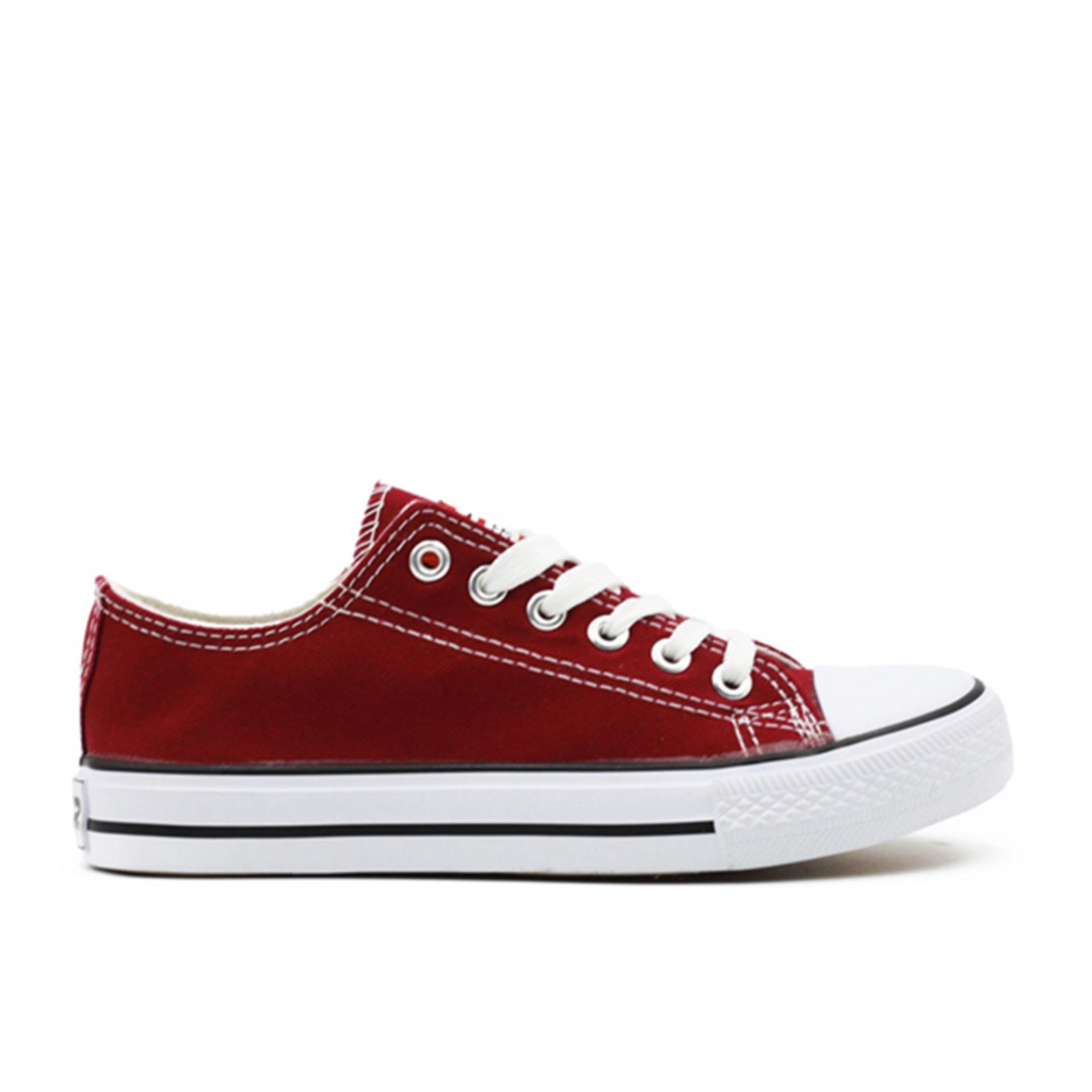 Faster Sepatu Sneakers Kanvas Wanita 1603-03 - Maroon .