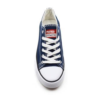 Faster Sepatu Sneakers Kanvas Wanita 1603-03 - Navy - 4