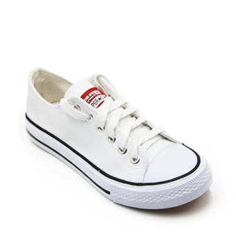 Faster Sepatu Sneakers Kanvas Wanita 1603-03 - White - 5