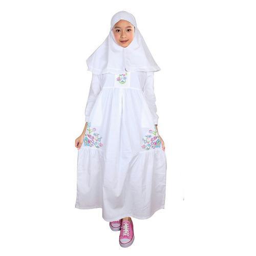 Fayrany Busana Muslim Anak Gamis Putih FGP-005B - Putih