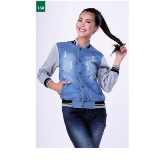Gambar FDH 1250 JAKET WANITA BIRU MUDA Merk: Garsel Fashion