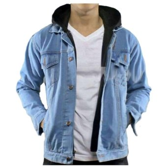 FG Jaket jeans hoodie ariel denim high quality - biru