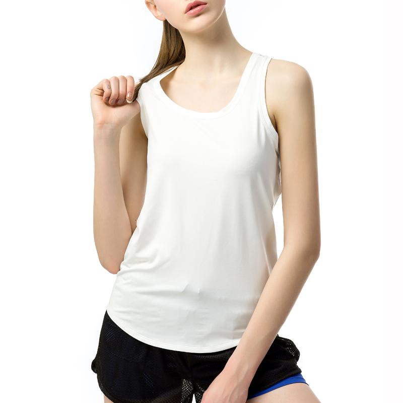 Fimage perempuan yoga Slim kata olahraga rompi (Putih)